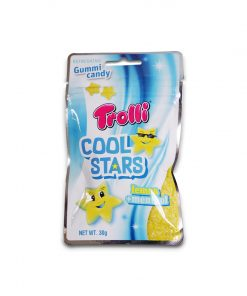 Trolli Cool Stars Lemon +Menthol Gummy Candy 30g