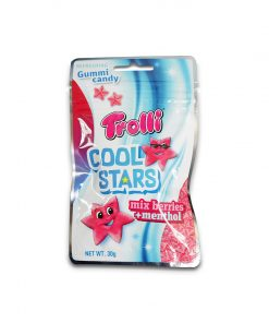Trolli Cool Stars Mix Berries +Menthol Gummy Candy 30g