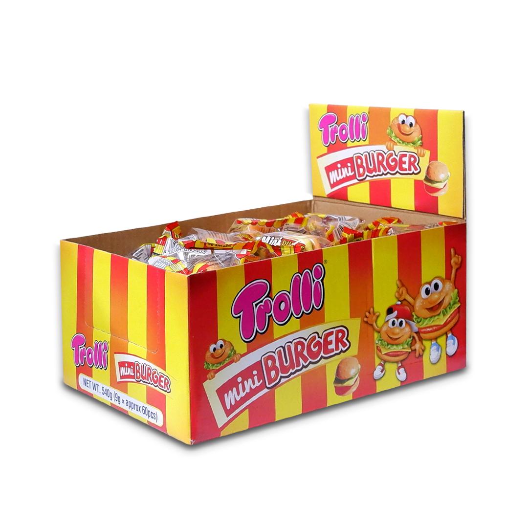 Trolli Mini Burger Gummy Candy 9g x 60