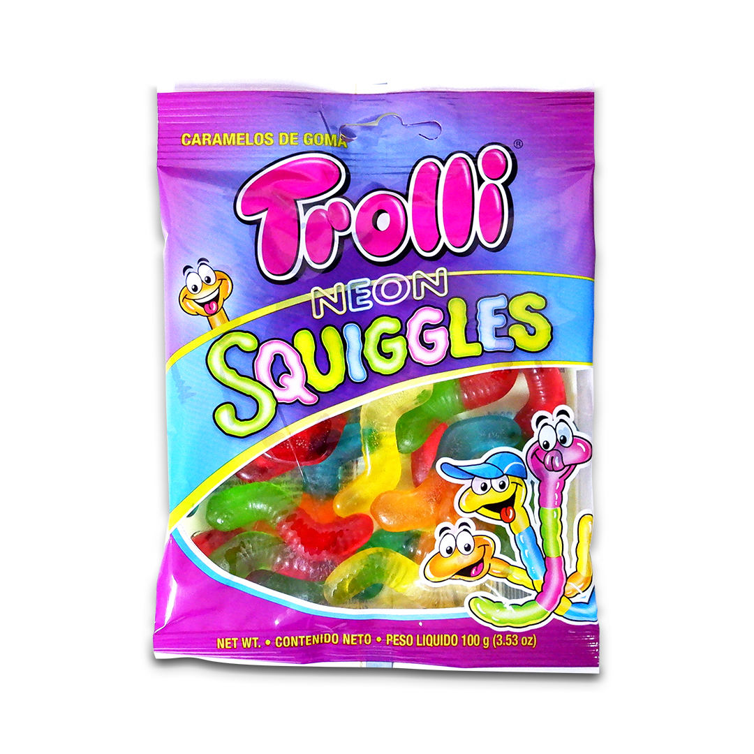 Trolli Neon Squiggles Gummy Candy 100g