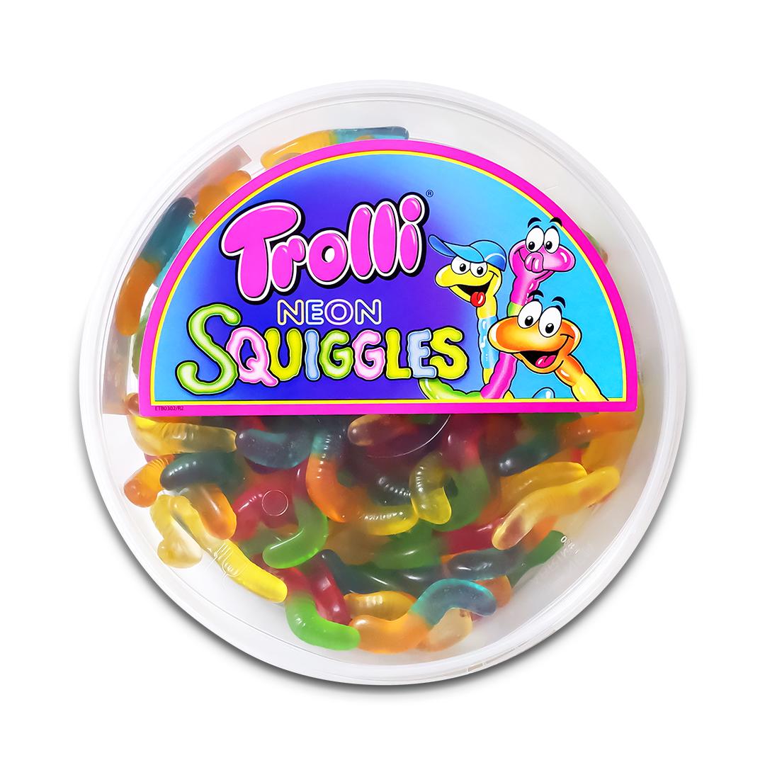 Trolli Neon Squiggles Gummy Candy 500g