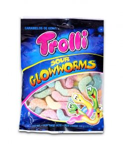 Trolli Sour Glowworms Gummy Candy 100g