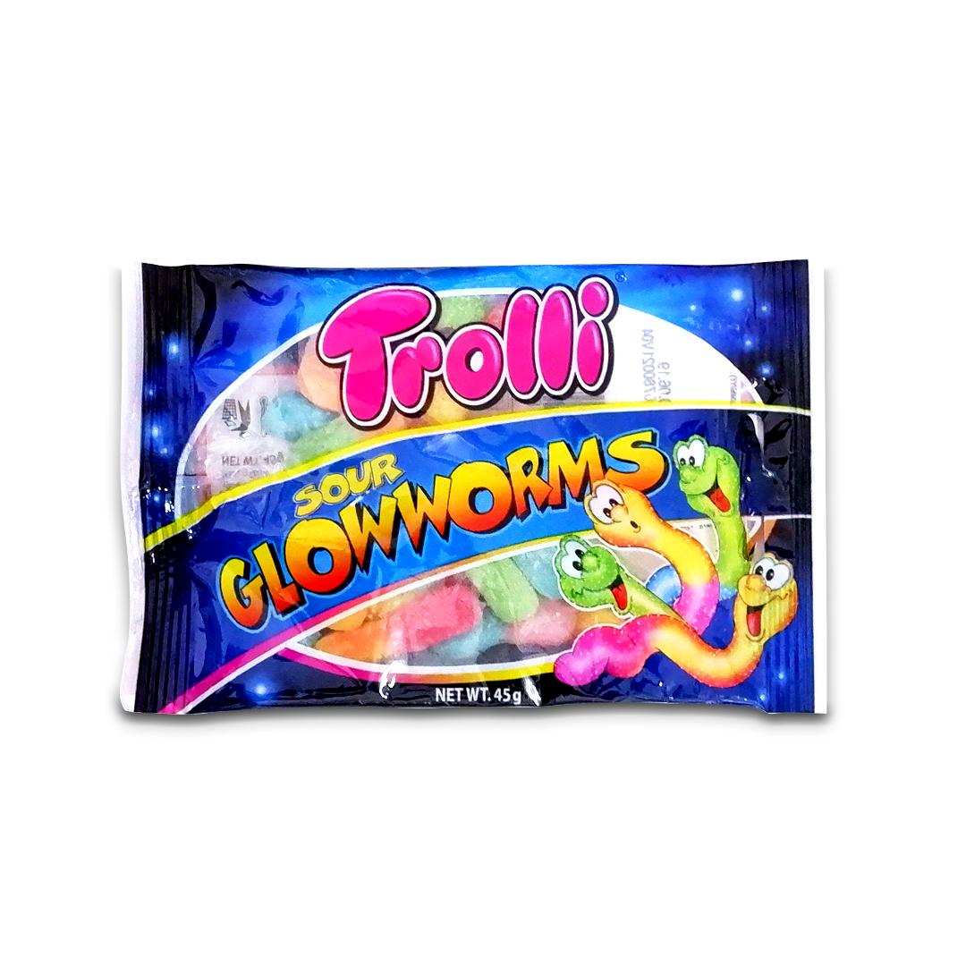 Trolli Sour Glowworms Gummy Candy 45g