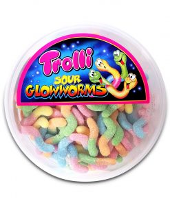 Trolli Sour Glowworms Gummy Candy 500g