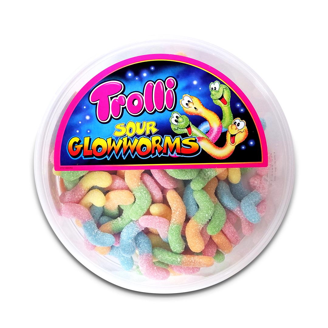 Trolli Sour Glowworms Gummy Candy 500g