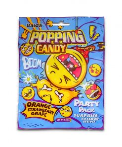 Baida Popping Candy 12g Orange, Strawberry, Grape with Surprise Balloon 12g
