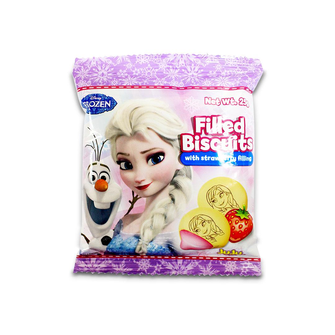 Juju Disney Frozen Filled Biscuit Strawberry 25g