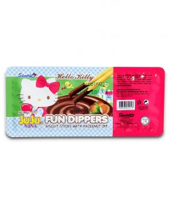 Juju Hello Kitty Fun Dippers Biscuit Sticks with Hazelnut Dip 35g