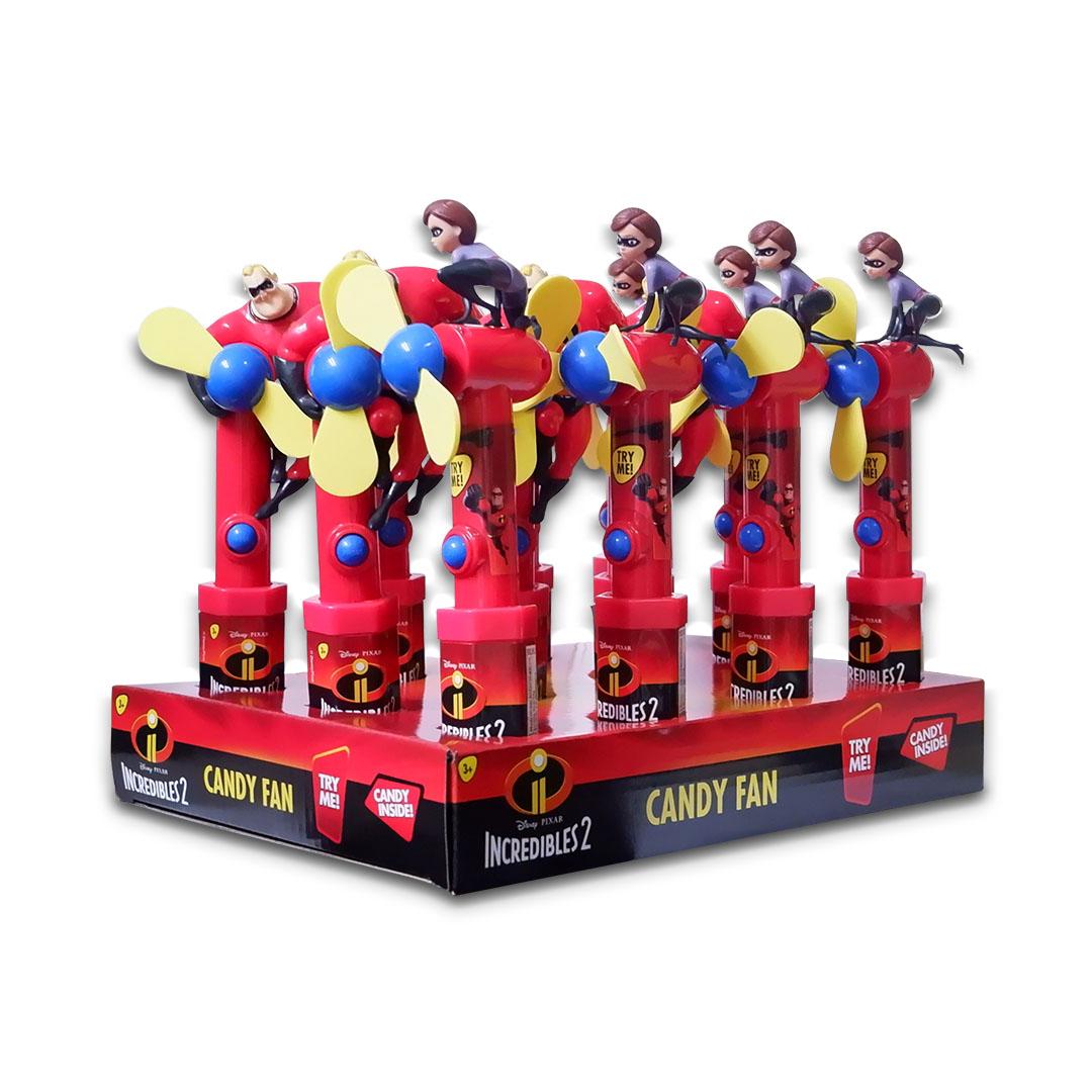 Disney Pixar Incredibles 2 Candy Fan 15g x 12