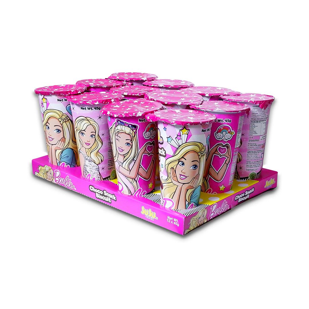 Juju Barbie Choco Snack Biscuit with Chocolate Cream 45g x 12