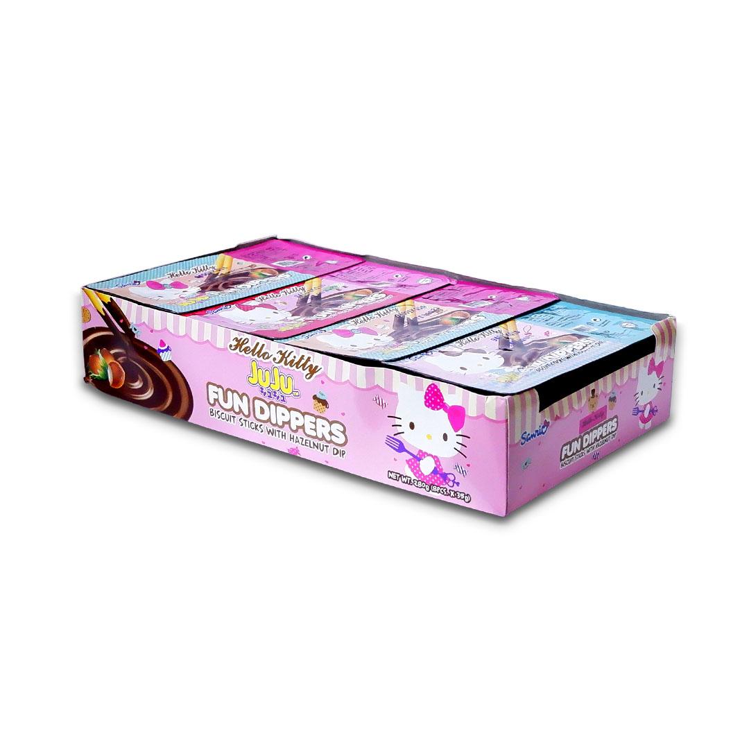 Juju Hello Kitty Fun Dippers Biscuit Sticks with Hazelnut Dip 35g x 8