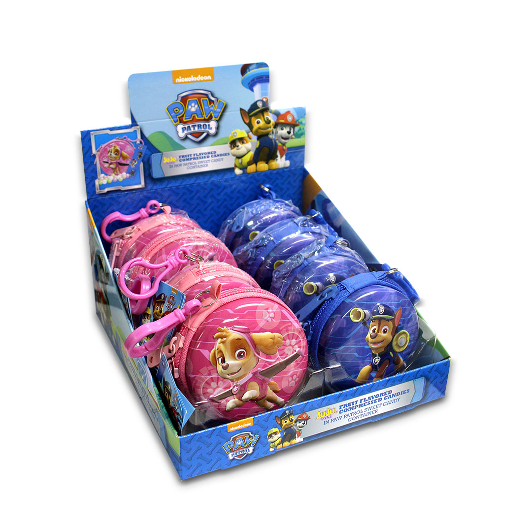 Juju Fruit Flavored Compressed Candy in Paw Patrol Sweet Candy Container 10g x 8
