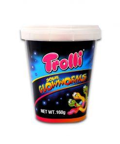 Trolli Sour Glowworms Gummy Candy 160g
