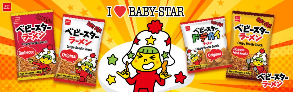 Baby Star Crispy Noodle Snack Banner